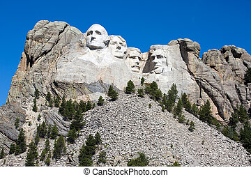 Mount Rushmore National Memorial is located in southwest...