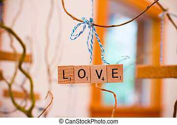 Scrabble Letter Wedding Decor - Scrabble letters at a...