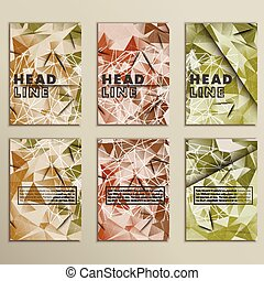 Set vector dirty camouflage for background