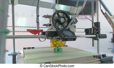 Three Dimensional Printer - Eye level side view at 3D...