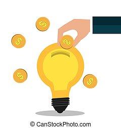 Crowdfunding icon design. - Crowdfunding icon design, vector...