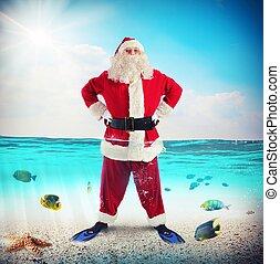 Santa Claus on vacation
