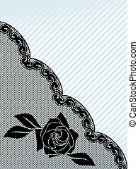 Black French lace background, diagonal