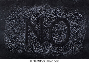 NO text on Chalkboard - Black chalkboard with NO written on...