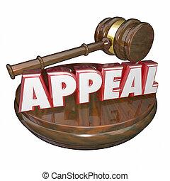 recurso, palavra, Juiz, Gavel, inverter, decisão,...