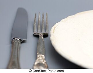 Vintage Place Setting - A place setting of vintage china and...