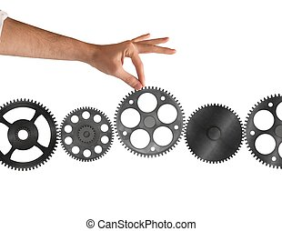 System of integration - Gear added between other part of...
