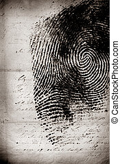 Thumbprint - Close up of Thumbprint
