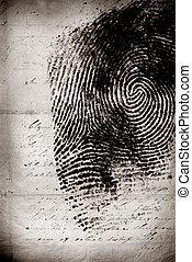 Thumbprint - Close up of Thumbprint