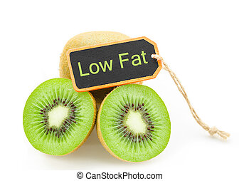 Kiwi fruit low fat concept. - Slice of fresh kiwi fruit and...