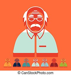Flat design: senior citizens