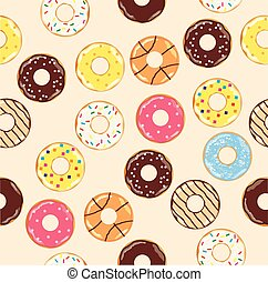 donuts - seamless donut background