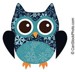 owl snowflake - owl with snowflakes
