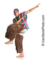 Ecuadorian National Costume - Ecuadorian Dancer Dressed Up...