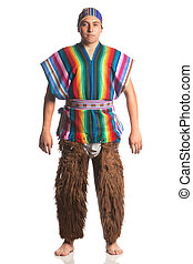 Ecuadorian National Costume - Ecuadorian Dancer Dressed Up...
