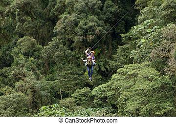 Tandem Zip Line - Zip Line Adventure In Ecuadorian...