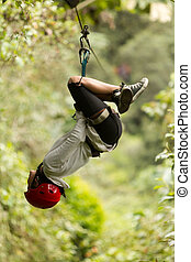 Zip Line Adventure In Ecuadorian Rainforest Banos De Agua...