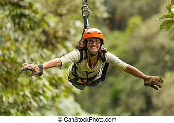 Zip Line Adventure In Ecuadorian Rainforest Banos De Agua...