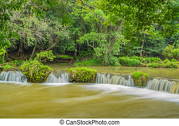 Waterfall - Chet-Sao-Noi waterfall in Khoa Yai National...