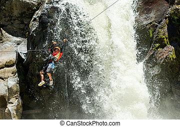 Waterfall Rope Crossing