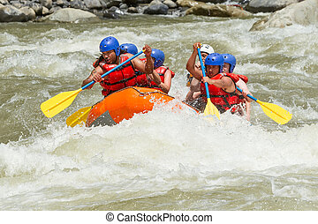 Whitewater River Rafting - White Water Rafting Team In...