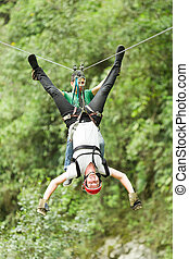 Adrenaline Search On Zip Line - Searching For Adrenaline...
