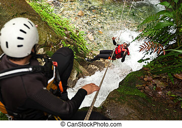 Canyoning Zip Line - Adult Man Zip Line Experience In South...