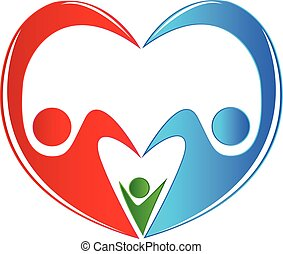 Family logo concept of union care healthy medical protection...