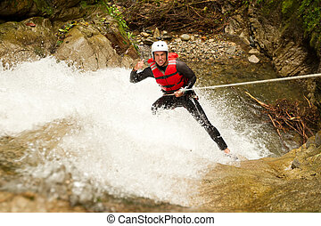 Canyoning Adventure Waterfall Descent