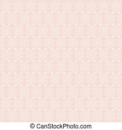 pink background with snowflakes,