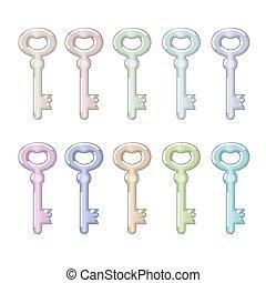set of metal keys