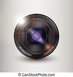 Lens digital camera vector