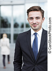 Young confident businessman - Portrait of young confident...
