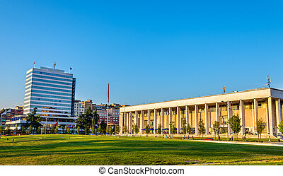 The Palace of Culture in Tirana - Albania