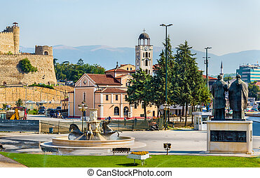 View of the Church St. Demetrius in Skopje - Macedonia