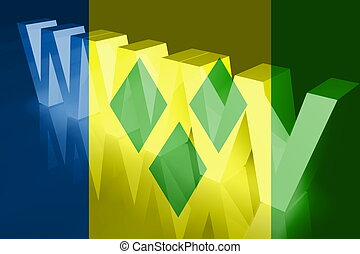 Flag of Saint Vincent and Grenadines www internet - Flag of...