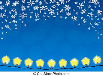 chain of christmas lights - vector illustration of a chain...