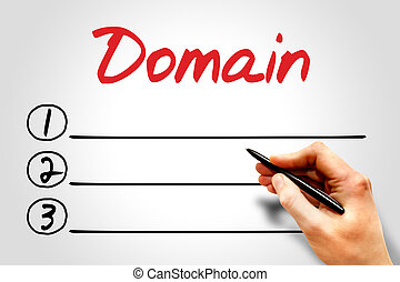Domain blank list, business concept