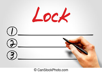 Lock blank list, security concept