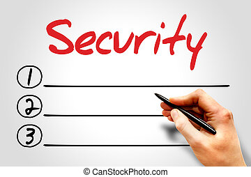 Security blank list, business concept