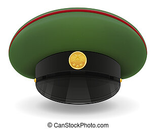professional uniform cap or military illustration isolated...