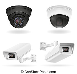 surveillance cameras illustration