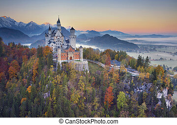 Neuschwanstein Castle, Germany. - View of Neuschwanstein...