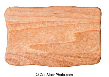 cutting board - wooden cutting board isolated on white...