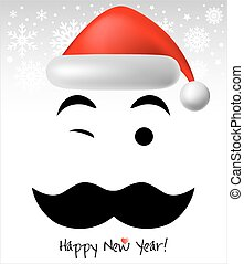 Santa Claus and Happy New Year  background or card