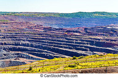 Iron ore mining in Mikhailovsky field within Kursk Magnetic...