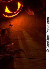 Fearful halloween red shadows background with lighting jack...