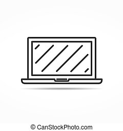 Laptop Line Icon