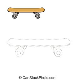 Connect dots to draw skateboard educational game - Connect...