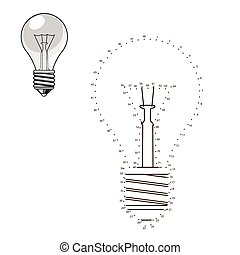 Connect dots to draw lightbulb educational game - Connect...